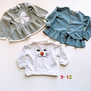 Zara BabyGirl Sweaters lot for Girl * 9-12M